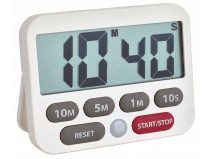 Digitální časovač a stopky TFA 38.2038.02, BÍLÁ