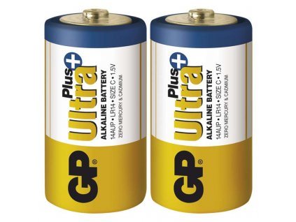 Monočlánková alkalická baterie C - GP Ultra Plus Alkaline | B1731 | 2 kusy