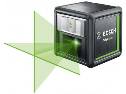 Křížový laser Bosch Home and Garden Quigo green | Green Laser Technology