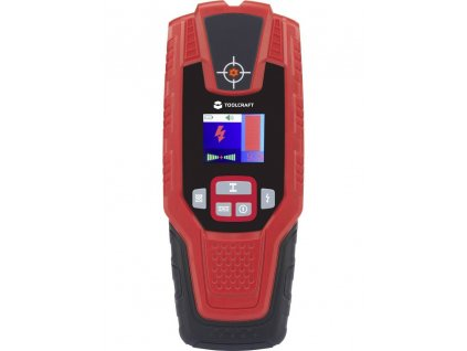 Multifunkční detektor TOOLCRAFT TO-5137836 | detekce neželezných kovů, kovů, elektrického vedení, dřevěných trámů