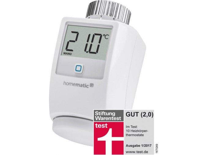 Bezdrátový termostat na radiátor Smart Home Homematic IP HMIP-eTRV, Max. dosah 150 m