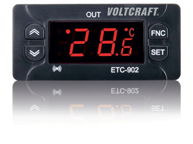 Termostat VOLTCRAFT ETC-902, typ senzoru NTC, PTC, -30 až +99 °C