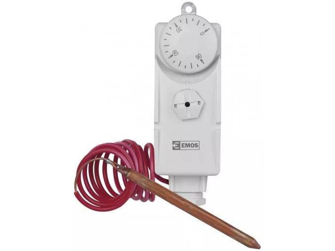 Příložný termostat s kapilárovým čidlem   Salus AT10F   teplotní rozsah 30 až 90°C