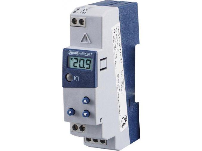 Termostat na DIN lištu Jumo eTRON 701050/811-02, 230 VAC, Pt100, Pt1000