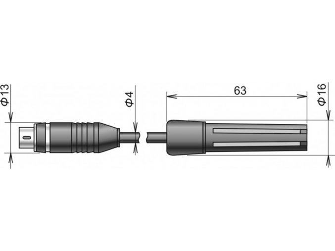 DIGIS/M - sonda teploty a relativní vlhkosti s digitálním výstupem, kabel 2 m