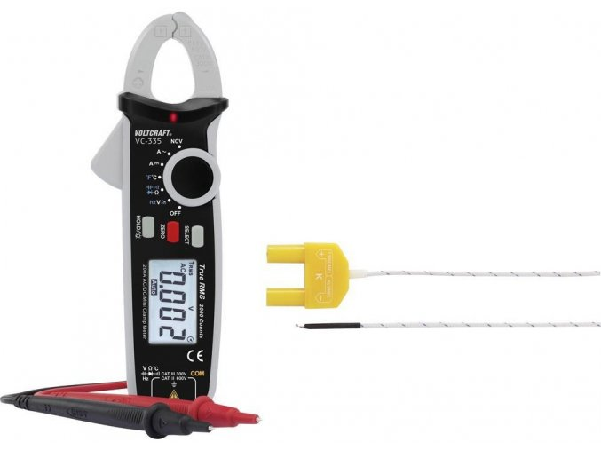 Klešťový digitální multimetr VOLTCRAFT VC-335, klešťový ampérmetr