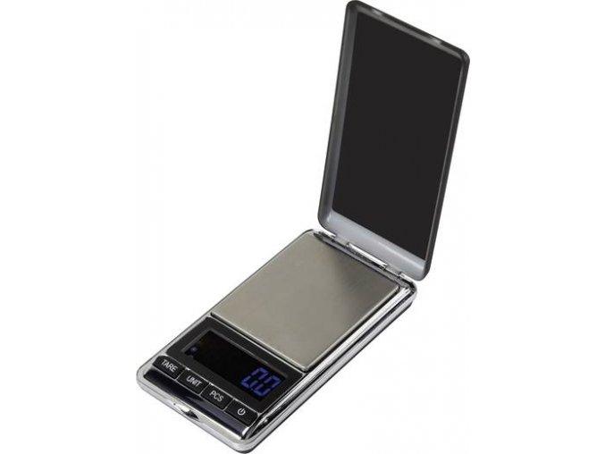 Kapesní váha Basetech SJS-60007, max. váživost 500 g, rozlišení 0.1 g, na baterii, stříbrná