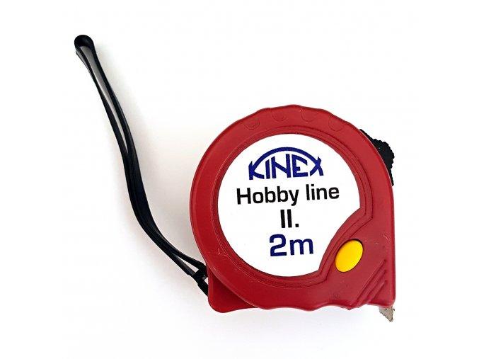 Svinovací metr KINEX Hobby Line II; délka 2m; 8001-2