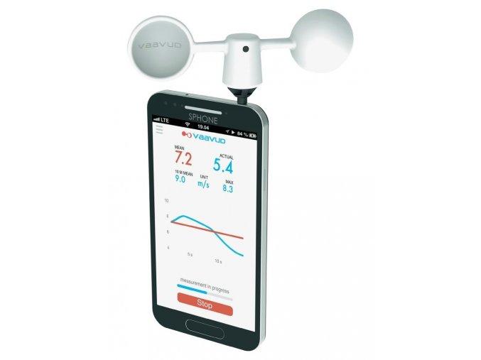 Smartphone anemometr MJOLNIR - měření rychlosti větru