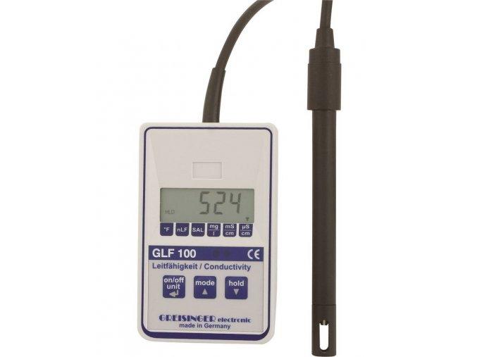 Digitální konduktometr, měření salinity a teploty Greisinger GLF100