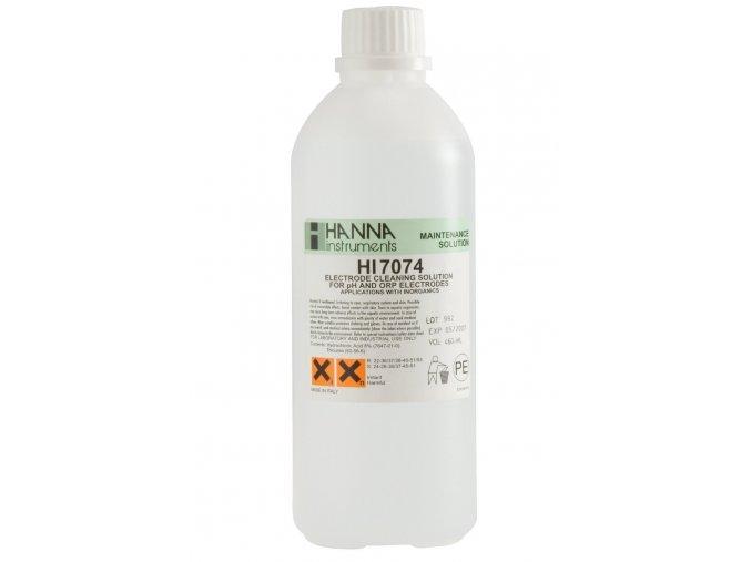 HI7074L   Čistící a dezinfekční roztok na pH a ORP elektrody na anorganické usazeniny   500 ml