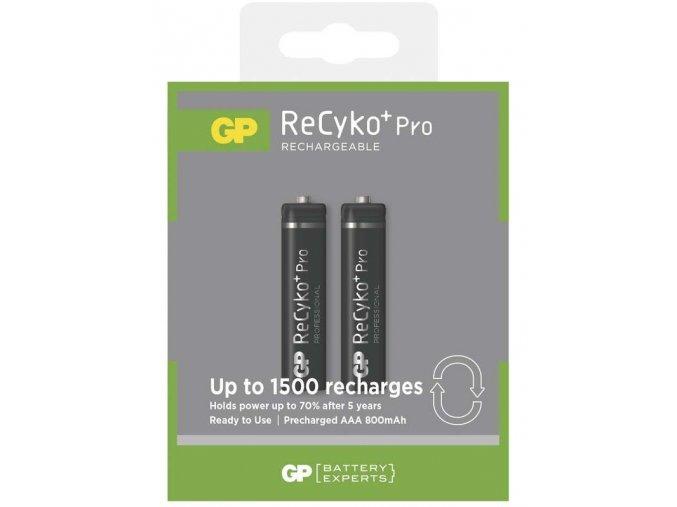 Nabíjecí baterie GP ReCyko+ Pro Professional HR03 (AAA), 2ks, B0818