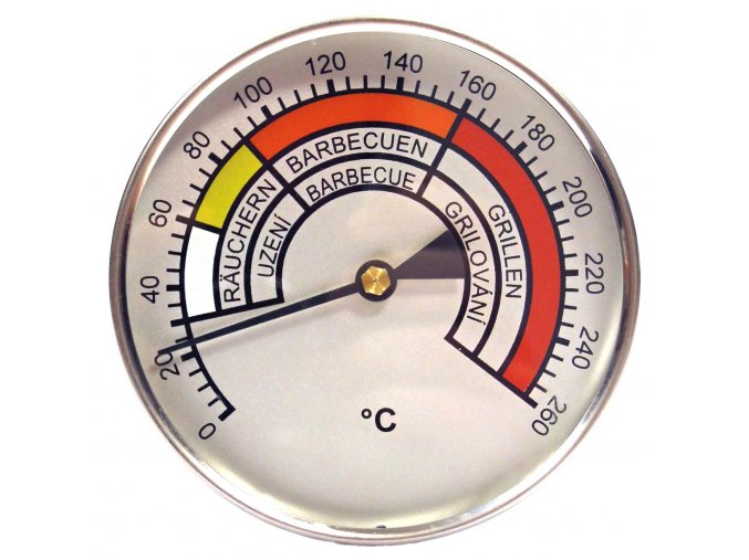 Bimetalový teploměr do udírny - délka 400 mm
