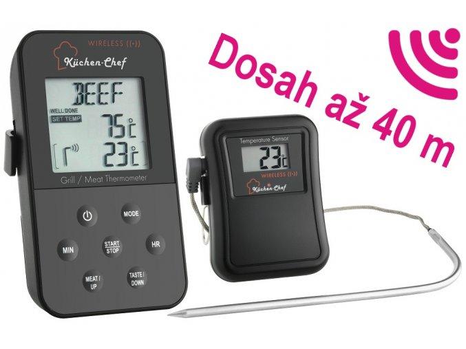 Bezdrátový digitální teploměr TFA 14.1504 pro pečení, grilování a uzení