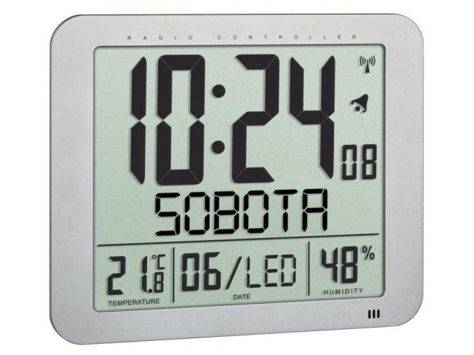 Nástěnné DCF hodiny s češtinou TFA 60.4516.54