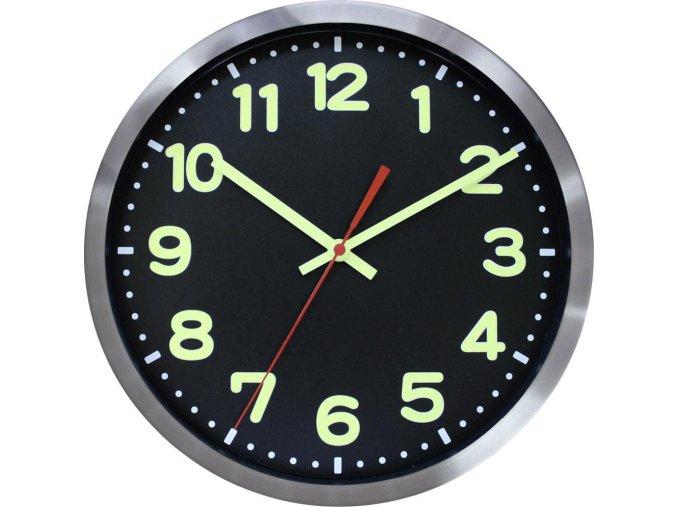 DCF nástěnné hodiny EuroTime 59861-07, Ø 30 cm, hliník