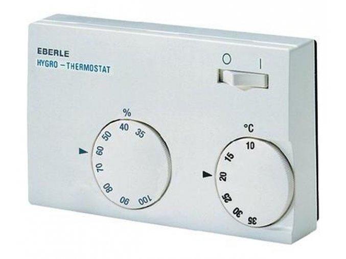 Mechanický hygrostat a termostat Eberle HYG-E 7001, 10 až 35 °C, bílá