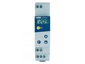 Termostat na DIN lištu Jumo eTRON 701050/821-02, 230 VAC, pro termočlánky typu K, J, L