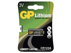 Foto lithiová baterie GP CR123A, 1 ks