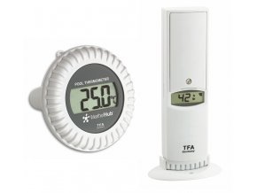 Bezdrátové čidlo teploty a vlhkosti s bazénovým čidlem TFA 30.3310.02 pro WEATHERHUB