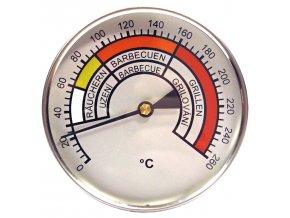 Teploměr do udírny do 260°C, prům. 100 m, stonek 400 mm