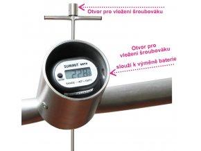 Dlouhý digitální tyčový teploměr - 3000 mm