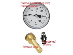 Topenářský teploměr pro měření topné vody