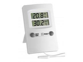 Digitální MIN-MAX teploměr s teplotním čidlem TFA 30.1009