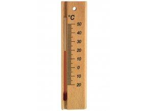 Pokojový teploměr TFA 12.1053.05, masivní dřevo - buk