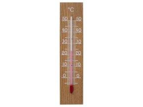 Vnitřní dřevěný teploměr TFA 12.1054.01; dub