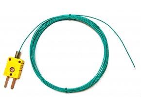 Drátkové teplotní čidlo, termočlánek NiCr-Ni, do 400°C, délka 6 m