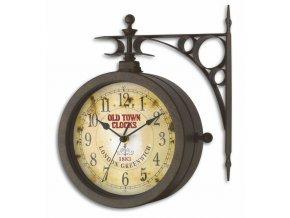 TFA 60.3011; Zahradní RETRO teploměr s hodinami OLD TOWN