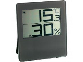 Bezdrátový digitální vlhkoměr-teploměr TFA 30.3052.08, hnědý