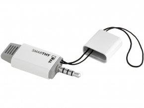 Teploměr a vlhkoměr pro smart-telefony TFA 30.5035.02 SMARTHY, bílá-šedá