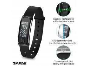 GARNI Q-68HR, Fitness náramek s měřením tepové frekvence