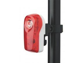 Zadní svítilna na kolo, XC-744L, 1+2x LED, 2 režimy svícení