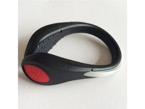 Bezpečnostní světlo s klipem na botu, červená LED