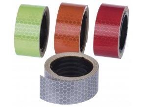 Reflexní páska 25 mm / 2m, 4ks - mix barev