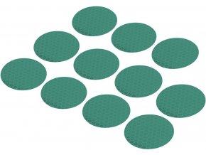 Reflexní lepící kolečka RTS40-GN, Ø 40 mm, 11 ks, zelená