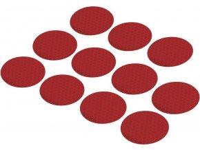 Reflexní lepící kolečka RTS40-RD, Ø 40 mm, 11 ks, červená