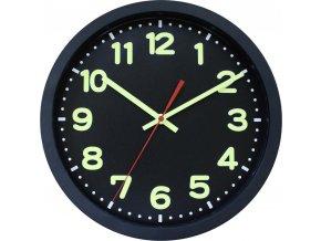 DCF nástěnné hodiny EuroTime 53861-05, Ø 30 cm, černá