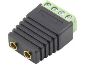 Laboratorní zásuvka Conrad Components 93013c1130, Ø pin: 4 mm, spojka, rovná, černá, 1 ks