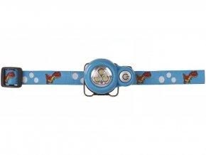 Dětská čelovka - Krtek na 2x CR2032, 3x LED - MODRÁ | P3529