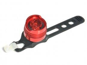 LED cyklo-svítilna, 1x super svítivá LED, svícení, blikání, červená