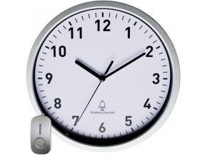 DCF nástěnné hodiny se dveřním zvonkem EuroTime 51202, (Ø x h) 30 cm x 5 cm, stříbrná