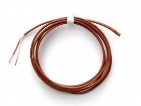 "Termočlánek ""T"" (Cu-CuNi) s celo-teflonovou izolací; bez konektoru - 1 metr"