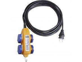 Odolný prodlužovací kabel Brennenstuhl 1169204, 4x zásuvka, 5 m, IP44, CZ