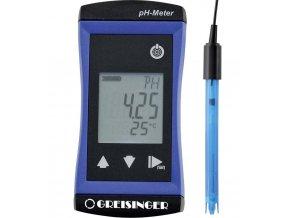 Ph metr Greisinger G1500+GE 114 610815 0,02 pH (při jmenovité teplotě 25 °C) Kalibrováno dle podnikový standard (s certifikátem) (owncertificate)