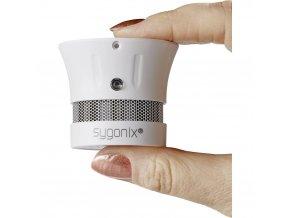 Detektor kouře Sygonix Mini miniaturní, vč. baterie s životností 10 let,na baterii