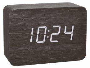 Digitální budík DCF v dřevěném designu TFA 60.2549.01 CLOCCO - černá